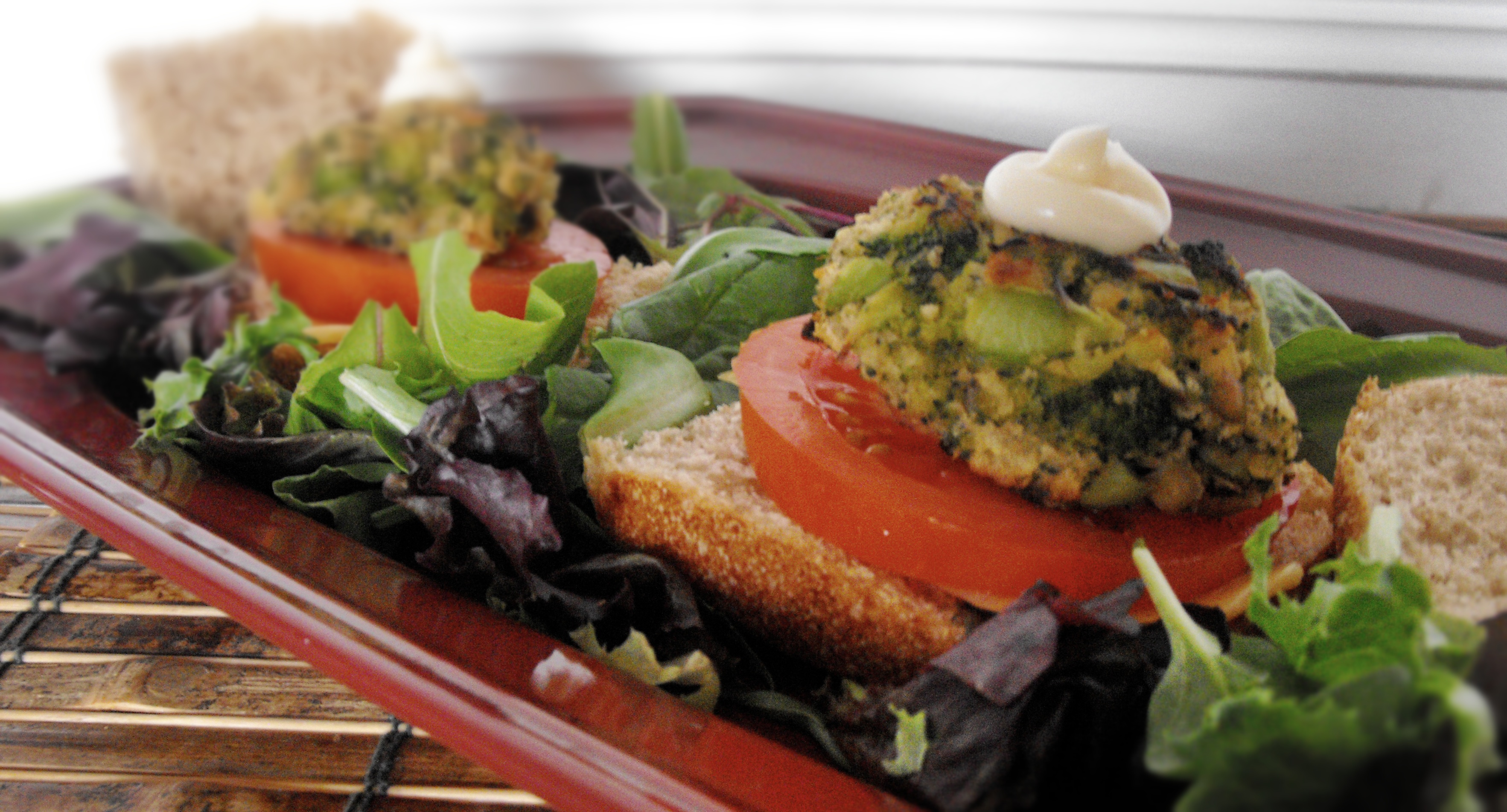 Baby Broccoli Burgers