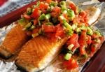 Salmon Salsa Cruda