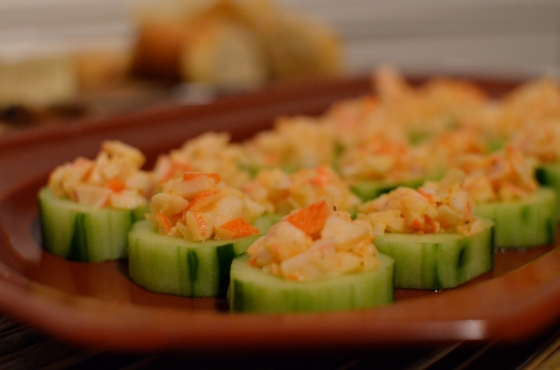 Crab Stuffed Cucumber Cups