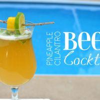 Pineapple Cilantro Beer Cocktail